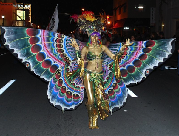 Golden Butterfly Girl at Viernes Culturales (Cultural Fridays)