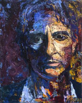 """Al Pacino"" 26""x32"" acrylic on canvas"